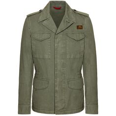 Fay - Field Jacket F Double Star (51,995 INR) ❤ liked on Polyvore featuring men's fashion, men's clothing, men's outerwear, men's jackets, green, mens green jacket, mens cotton military jacket, g star mens jacket, mens army green jacket and mens cotton jacket