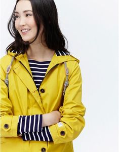 Coast Antique Gold Waterproof Hooded Jacket | Joules UK