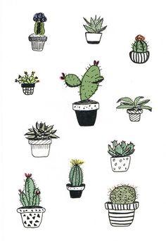 cactus doodle - Recherche Google                              …
