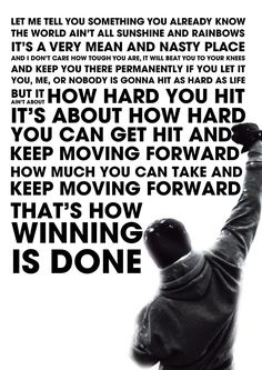 Rocky Inspired Motivational Inspirational Quote Poster (24 x 36 in): Amazon.co.uk: Kitchen & Home