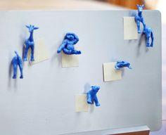 DIY: spray paint animal magnets!