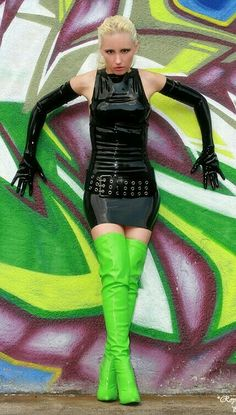 Women S Fashion Over 60 Year Olds Referral: 6309826197 Latex Boots, Latex Lady, Green Boots, Thigh High Boots Heels, Long Gloves, Latex Dress, Sexy Latex, Fashion Boots, Fashion Fall