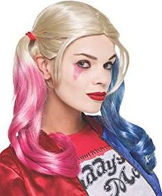 Official Harley Quinn Wig from Suicide Squad. Add the finishing touches to your super villain costume with our range of licensed accessories and fancy dress props. Fancy Dress Props, Halloween Fancy Dress, Halloween 2020, Halloween Makeup, Halloween Ideas, Halloween Decorations, Halloween Costumes, Harley Quinn, Cosplay Costume