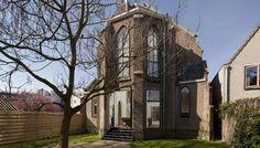 Antiga igreja se transforma em casa moderna - Holanda