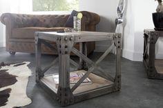 Helemaal gek op de industriële stijl? Dan past deze bijzettafel zeker bij jou in huis! Hij is nu in de uitverkoop met maar liefst €30,- korting! #huis #Inspiratie #woonkamer #inrichting #interieur #meubelen #meubels #tafel #bijzettafel #koffietafel #sale #home #livingroom #table #Industrialchic