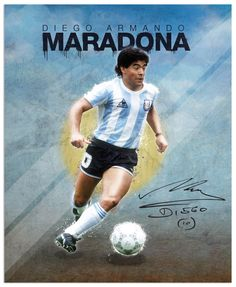 World Cup legends by Emilio Sansolini, via Behance #soccer #poster #maradona