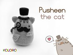 www.facebook.com/koloroshop amigurumi toy Pusheen the cat,crochet muñeco ganchillo gato Pusheen de facebook