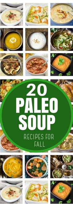 Paleo Soup recipes are perfect any time of the year but in the Fall they really come into their own as root vegetables, pumpkins, and winter squashes, appear in stores everywhere Paleo Soup, Healthy Soup Recipes, Cooking Recipes, Banting Recipes, Paleo Meals, Chili Recipes, Paleo Whole 30, Whole 30 Recipes, Lunches