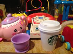 How to make a free coffee toy that will satisfy your toddler's coffee fix http://hintmama.com/2013/12/05/todays-hint-a-free-play-coffee-fix-for-the-toddler-set/