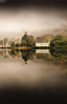 Church & Lake reflection - Gougonne Barra, West Cork, Ireland | by splinter-images