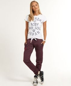 3119569984ed8 Shop Superdry Womens Slim Fit Joggers in Port True Grit. Buy now with free  delivery from the Official Superdry Store.