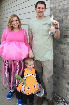 Nemo, Jellyfish and P. Sherman. Family Halloween costume.                                                                                                                                                      More