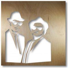 Obraz Świetlny Blues (proj. Kreatywna Pani Maszynka), do kupienia w DecoBazaar.com