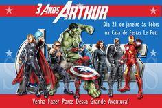 Arte Convite Digital - Os Vingadores