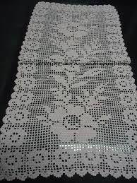 Resultado de imagen para caminhos de mesa em croche com graficos