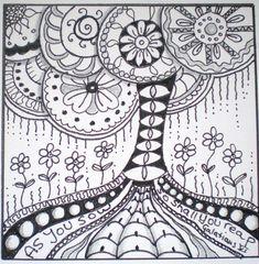 Tree of life zentangle