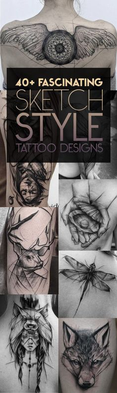 Sketch-Style-Tattoo-Designs.jpg 595×1,988 pixeles