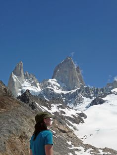 Hiking to the base of Cerro Fitz Roy in Argentina