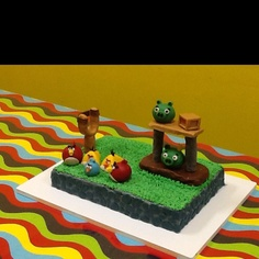 My first Angry Bird cake