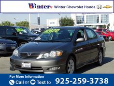 2007 *Toyota*  *COROLLA* *GREAT* *BUY* $10,420  miles 925-259-3738 Transmission: Automatic  #Toyota #COROLLA #used #cars #WinterChevroletHonda #Pittsburg #CA #tapcars
