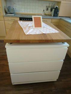Unsere neue Kücheninsel. Toll, mit 6 Schubladen günstig selber bauen ...