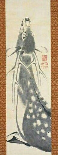 鹿図 Hart 伊藤若冲 ITO Jakuchu Japanese Ink Painting, Japanese Drawings, Japanese Artwork, Japanese Prints, Chinese Painting, Chinese Art, Grace Art, Japanese Illustration, Korean Art