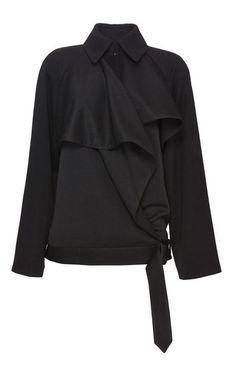 A Classic twist...literally! ;)  Satin Crepe Draped Wrap Jacket by J.W. Anderson for Preorder on Moda Operandi