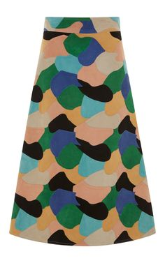 Multicolor A Line Skirt by MARNI for Preorder on Moda Operandi