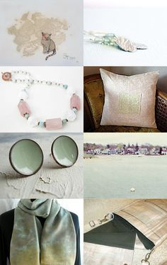 My triple wrap bracelet in periwinkle and lime are included at the bottom of this lovely subtle treasury!--Pinned with TreasuryPin.com