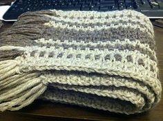 Super fast men's scarf. free pattern #crochethats