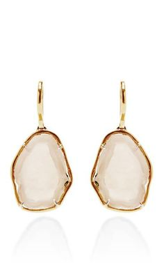 One Of A Kind White Baby Geode Earrings by Kimberly McDonald for Preorder on Moda Operandi