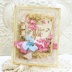 Love this card by Viola Mahr! Cute sewing spool accents!