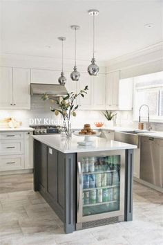 Ravishing Small kitchen remodel with pantry tricks,Small kitchen cabinets online shopping ideas and Kitchen design layout lowes tips. Rustic Country Kitchens, Country Kitchen Designs, Small Kitchen Cabinets, Diy Kitchen, Kitchen Ideas, Kitchen Countertops, 1970s Kitchen, Gray Cabinets, Cheap Kitchen