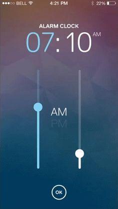 Inspiration Mobile #17 : Horloge, date & chronomètre | BlogDuWebdesign