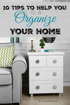 Getting Organized - Throwing out and reorganizing your old items can help make… Declutter Your Home, Organizing Your Home, Organizing Tips, Organising Ideas, Home Organization Hacks, Home Decor Store, Cleaning Tips, Cleaning Schedules, Weekly Cleaning