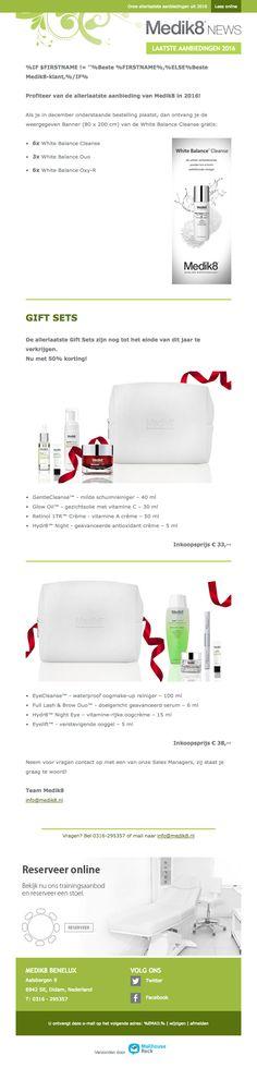 De laatste Gift Sets voor de halve prijs Mail Marketing, Campaign