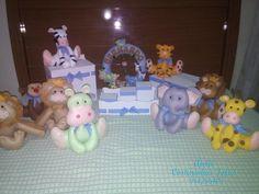 Kit decoração safari...Bichinhos em feltro e caixas em MDF