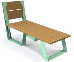 guyon transat bois metal legna mobilier urbain / guyon legna timber metal deck chair street furniture Deck Chairs, Picnic Table, Dining Bench, Urban, Furniture, Stylish, Design, Home Decor, Lounge Seating