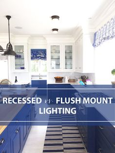 Trending in the Kitchen: Flush Mounts Replacing Recessed Lighting