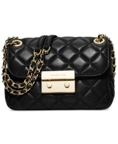 MICHAEL Michael Kors Sloan Small Chain-Strap Shoulder Bag $258.00 Let your chic style shine with MICHAEL Michael Kors' quilted leather shoulder bag, featuring gleaming metallic hardware and chain details for a polished touch of edge.