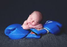 Newborn Photography Boxing Gloves. Brownsburg and Indianapolis area Newborn Portrait Photographer