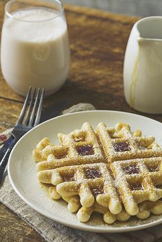 Wake up to crisp, fluffy waffles made dairy-free with this easy, classic recipe.