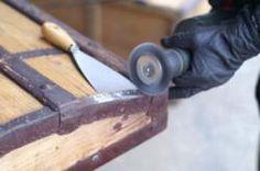 La malle en coin - Les étapes de restauration d'une malle en bois