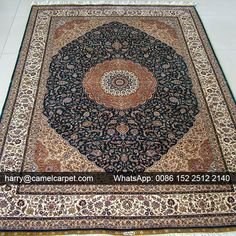 No.11024 - 5.5x8feet #HandmadeCarpet with #Medallion -harry@camelcarpet.com Find it on http://www.camelcarpet.cc