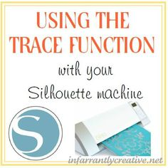 How to use the trace function with your Silhouette Cameo or SD machine Silhouette Projects, Silhouette Cameo Machine, Silhouette Files, Silhouette Curio, Silhouette School, Silhouette Cameo Tutorials, Silhouette Design, Silhouette Vinyl, Silhouette Portrait