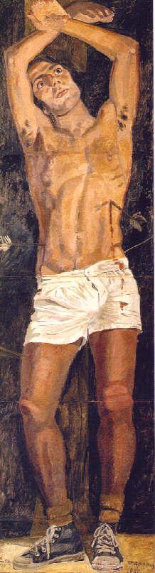 Saint Sebastian, 1970, by Yannis Tsarouchis