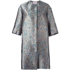 Lanvin - embroidered floral coat - women - Silk/Cotton/Acrylic/Wool - 38