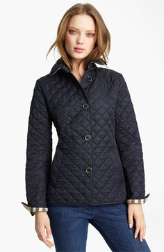 I will own this so soon!! Burberry Brit Quilted Short Jacket