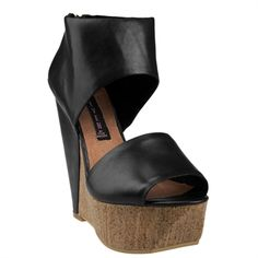 Steven by Steve Madden Bammba Covered Wedge Open Toe Pump #VonMaur