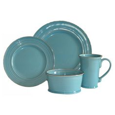 Baum Tuscany 16-Piece Dinnerware Set has a rustic pattern with a ...